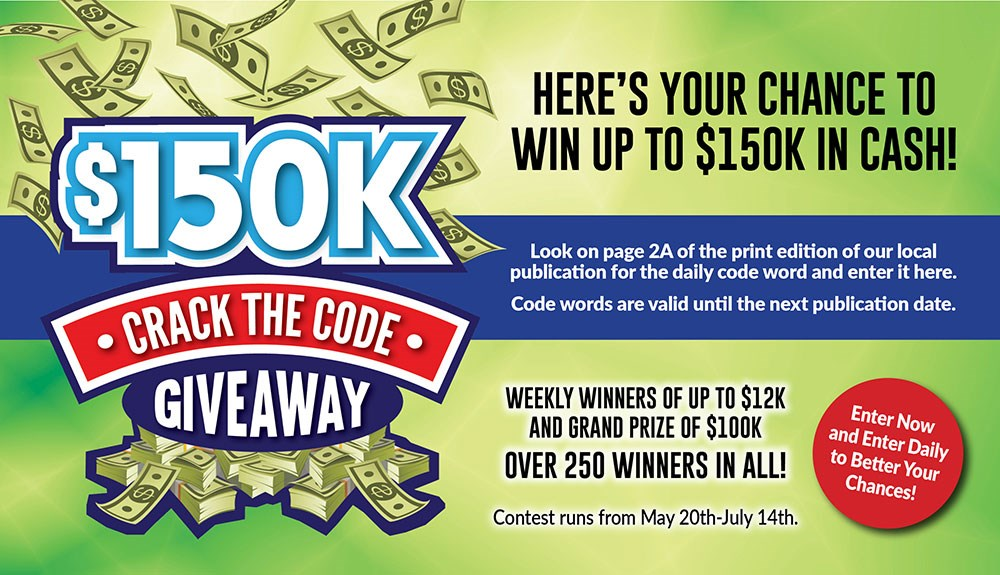 150K Crack the Code Giveaway - Contests and Promotions