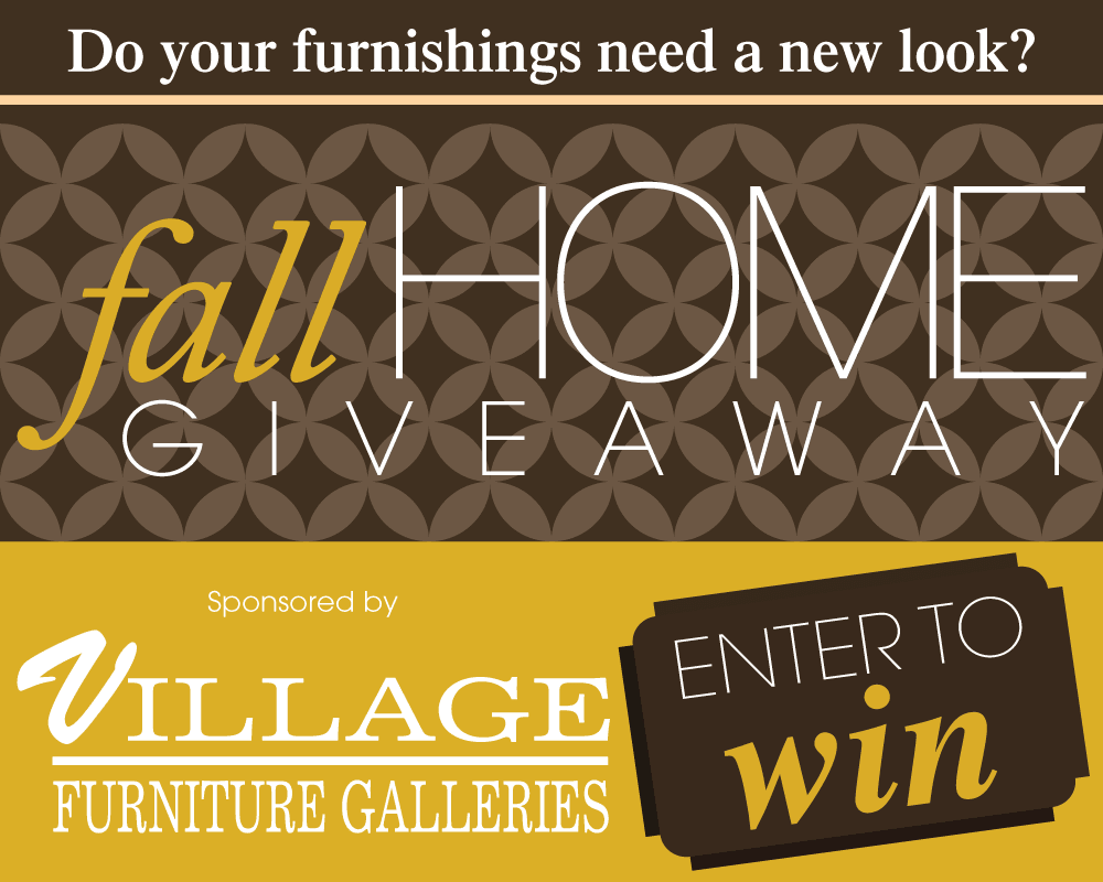 One Lucky Entrant Will Win A 2 000 Ping Spree To Village Furniture