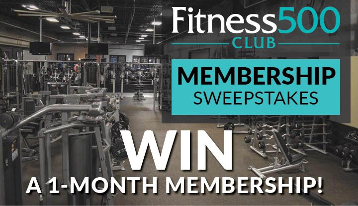 Fitness 500 Club Membership Sweepstakes 2019 - Contests and