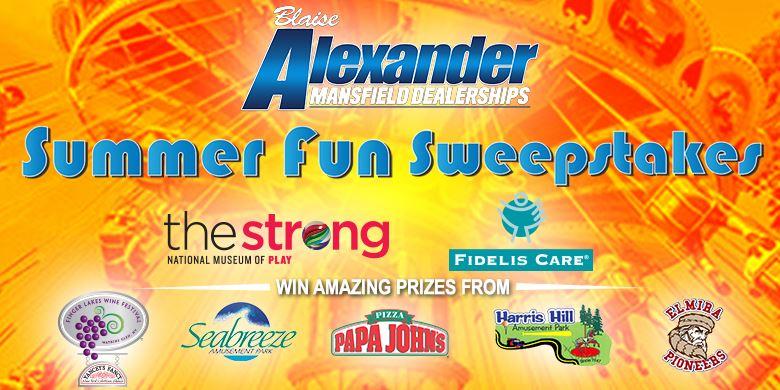 Summer Fun Sweepstakes - WENY News