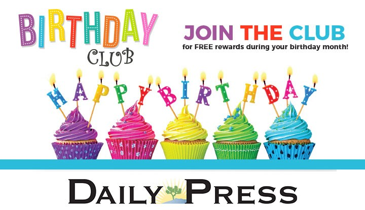 Join the Victorville Daily Press Birthday Club!