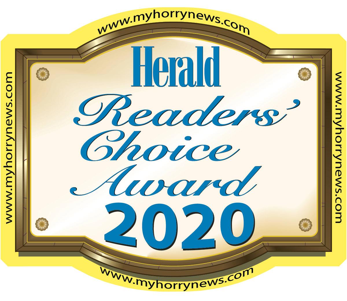 2020 Myrtle Beach Herald Readers Choice