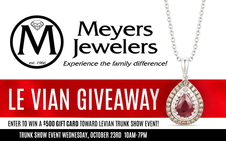 Meyers Jewelers Le Vian Giveaway