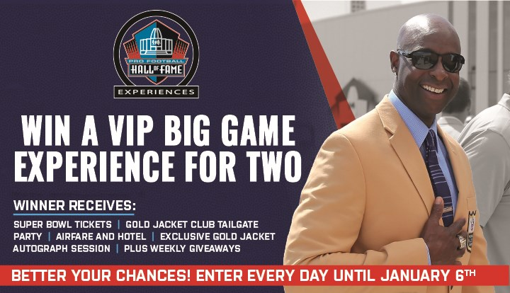 Pro Football Hall of Fame VIP Big Game Sweepstakes 2020