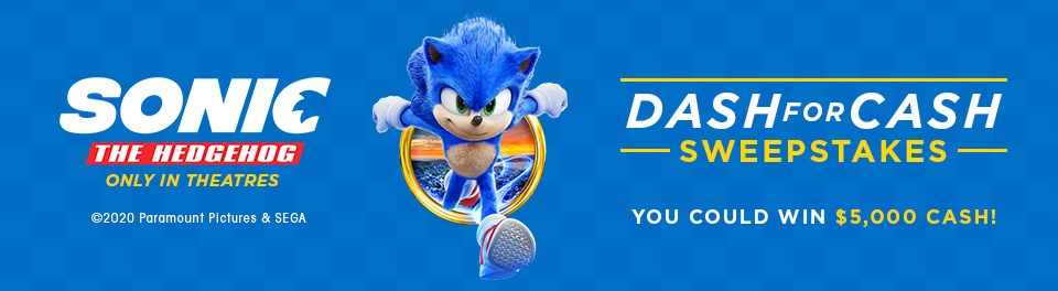 Sonic The Hedgehog Movie 2020 Sweepstakes
