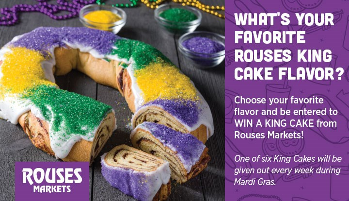 2020 What's Your Favorite Rouses King Cake Flavor?