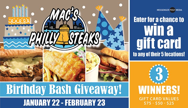 Mac's Philly Steaks Birthday Bash Giveaway