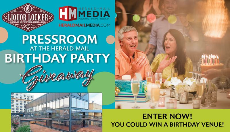 PressRoom at The Herald-Mail Birthday Party Giveaway