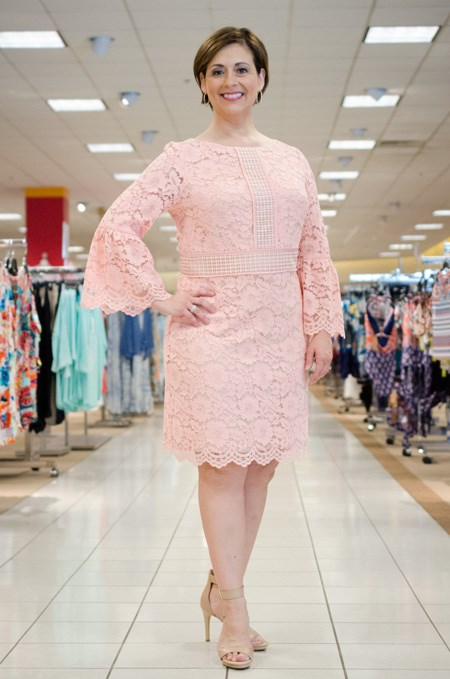 Nancy In Vince Camuto Blush Lace Dress Fayette Mall