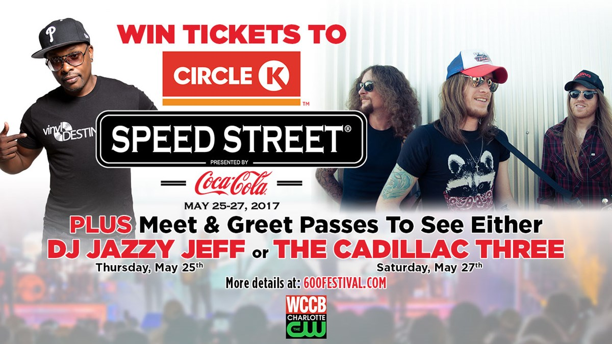 Win tickets and meet greet passes to the circle k speed street one grand prize winner will get 2 tickets to this years circle k speed street presented by coca cola plus their choice of 2 meet greet passes to see dj m4hsunfo