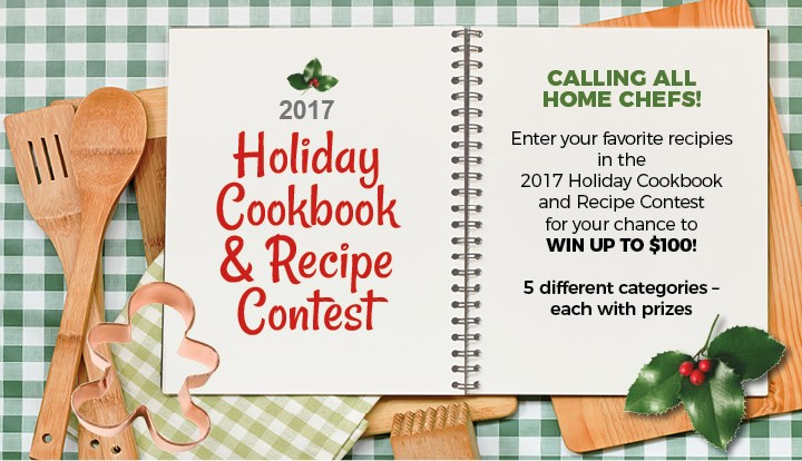 2017 holiday cookbook recipe contest contests and promotions were looking for recipes m4hsunfo