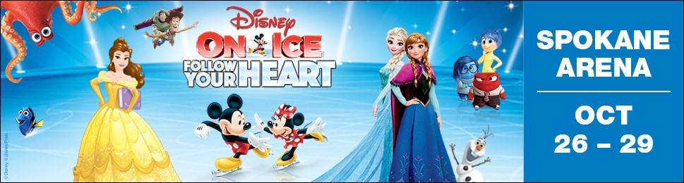 Enter to win 4 vip tickets to see disney on ice at the spokane enter to win 4 vip tickets to see disney on ice at the spokane arena a 100 value merchandise pack tickets must be picked up at khq tv 1201 w sprague m4hsunfo