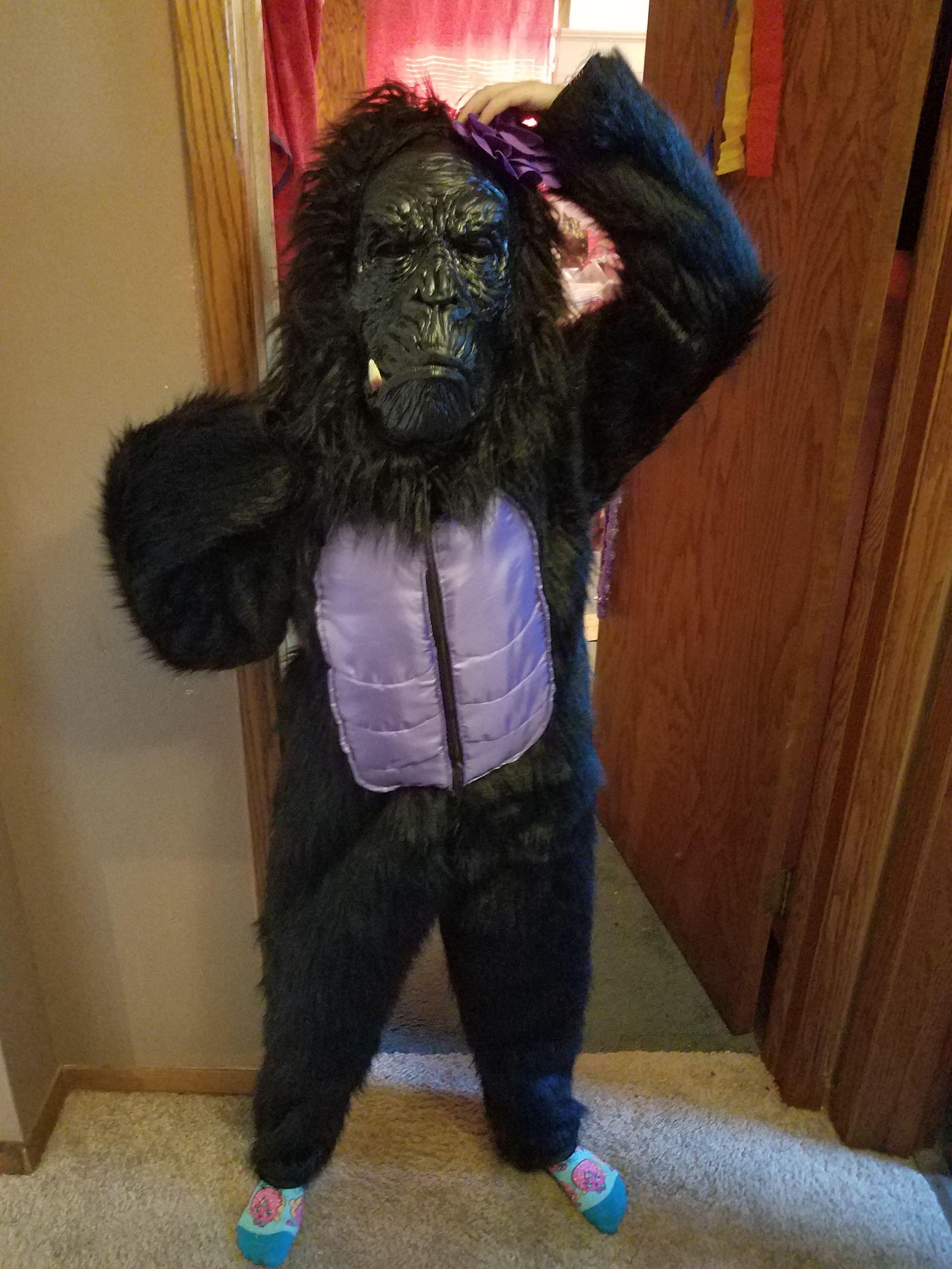 Homemade Gorilla Costume & 2017 Halloween Photo Contest