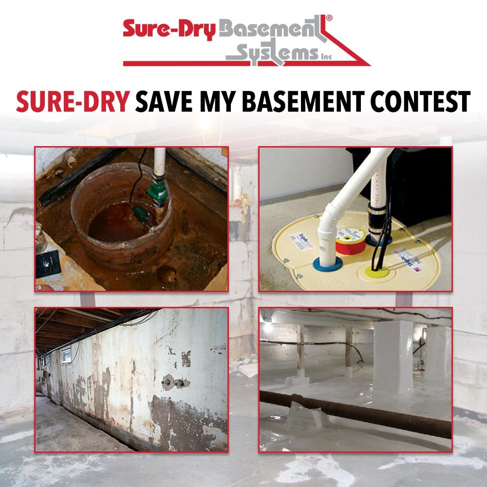 Win $5,000 Of Basement Repairs And An Aprilaire® Dehumidifier From Sure Dry!